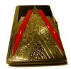 Art Deco Sterling Silver, Enamel & Marcasite Case. Germany